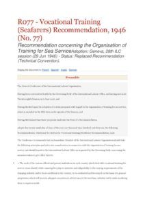 INTERNATIONAL_TREATY_ILO-RECOMMENDATION-R077_1946_ENG