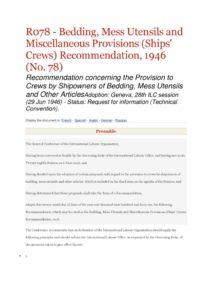 INTERNATIONAL_TREATY_ILO-RECOMMENDATION-R078_1946_ENG